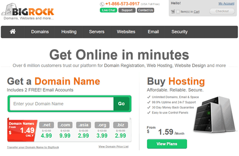 BigRock Domain Registrar Cheap Domain Name Techoize