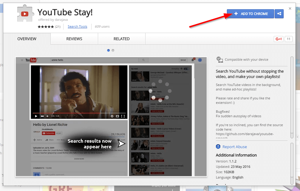 How To Search YouTube Without Stopping The Current Video - Techoize